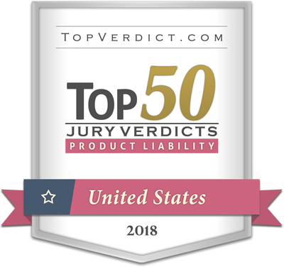 MRHFM Mesothelioma Law Firm - TopVerdict.com Top 50 Jury Verdicts - 2018